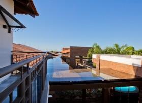 Cobertura do telhado em vidro